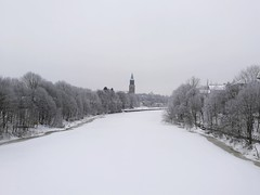 scenery river cathedral turku snow cold winter white... (Photo: pvanhala on Flickr)