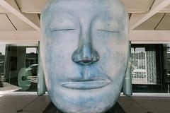 scottsdale, az (jayelyse) Tags: travel scottsdale arizona blue face statue street art