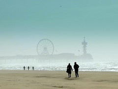 it is cool,not cosy (Rococo57) Tags: rococo57 beach birthday janneke scheveningen distance light waves silhouettes blue blues factorij 40 eastern escape sadness ignore kutdujour