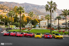 Ferrari Only (Raphaël Belly Photography) Tags: rb raphaël monaco principality principauté mc montecarlo monte 98000 carlo hotel de paris french riviera south france luxury supercar supercars spotting car cars voiture automobile raphael belly canon eos photographie photography casino ferrari laferrari lf coupe aperta f50 f40 enzo 288 gto red rouge rosso rossa yellow jaune giallo gialla