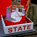 NC State-themed water fountain