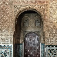 Alhambra Granada Spain! #spain❤️ (saadia_khans) Tags: calligraphy tilework colors art travelart castle travelphotography travelphoto architecture spain granada alhambra arches instagramapp square squareformat iphoneography