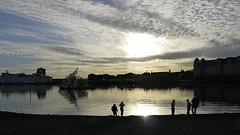 Silhouettes (Päivi ♪♫) Tags: norway oslo beach silhouettes sea fjord sun