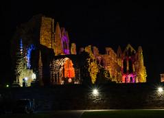 Whitby Abbey at Night (jameshowardphotography) Tags: whitby abbey architecture architec lights night halloween