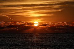 cloudy sunset (laird.lothar) Tags: sunset clouds ocean water sea sun yellow sonnenuntergang florida