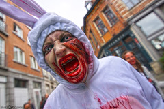 Angry Easter bunny (Red Cathedral uses albums) Tags: sony a6000 cosplay larp eventcoverage sonyalpha mirrorless alpha brussel bruxellesmabelle bifff zombifffparade zombifffday brusselsinternationalfestivaloffantasticfilm zombie zombieparade zombiewalk undead thewalkingdead twd blood gore horror eerie