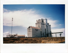 (|Digital|Denial|) Tags: instaxwide instantphotography fujifilm analog film colour grainelevator prairies sky clouds traintracks railroad old weathered decay