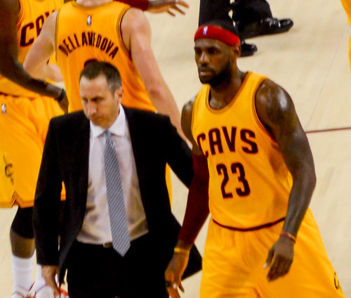 David Blatt and LeBron James by EDrost88, on Flickr