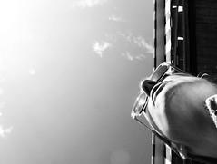 Self (ceciledelestre) Tags: portrait sky blackandwhite bw sunglasses self nose glasses soleil noiretblanc himmel portrt nb panasonic ciel nez cicatrice lunettes chin nase menton kinn nostrils sonnenbrillen narines schwarzweis nasenloch dmctz40