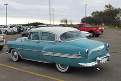 1954 Chevrolet Bel Air (DVS1mn) Tags: blue white cars chevrolet car sedan gm air bowtie 1954 chevy bel 54 generalmotors 4door