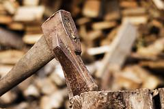 Idzie zima (Morgentau ;)) Tags: wood work ax holz arbeit axt fuel woodcutter kraftstoff holzfller