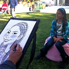 Caricatures by Zach! (Caricatures by Zach!) Tags: portrait caricature sfbayarea keepsakes caricaturist 3minutes