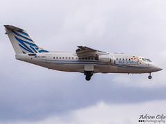 Air Botswana --- British Aerospace Avro 146-RJ85 --- A2-ABH (Drinu C) Tags: plane aircraft sony dsc avro mla 146 britishaerospace rj85 airbotswana lmml hx100v a2abh adrianciliaphotography