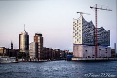 Hamburg Elbphilharmonie (FotoartDH) Tags: city building tower water skyline architecture river germany photography harbor photo construction cityscape riverside daniel hamburg towers landmark tourist cranes sight philharmonic elbe philharmonie heine philharmony elbphilharmonie landungsbrucken