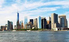 View over Manhattan (Two-Kats) Tags: city newyorkcity usa ny newyork buildings view unitedstates manhattan cityscapes ciudad batterypark northamerica statenislandferry arquitecture estadosunidos nuevayork urbanphotography travelphotography fotografiaurbana lagranmanzana norteamerica labahiademanhattan