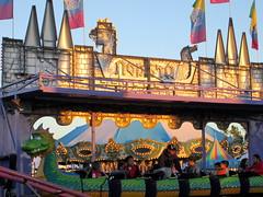 Back Of Big Rock Amusements Dragon Wagon Coaster. (dccradio) Tags: carnival fun nc northcarolina fair entertainment midway countyfair amusements lumberton carnivalrides amusementrides communityevent thrillrides fairrides mechanicalrides robesoncountyfair bigrockamusements robesonregionalagriculturalfair