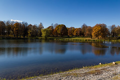 many-coloured park (kirill3.14) Tags: autumn trees reflection water landscape pond parks bikeroutes