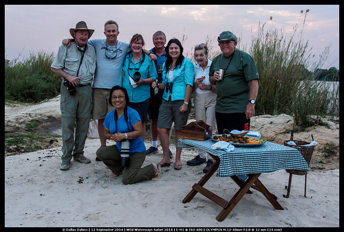 Our Group on an island on the Zambezi