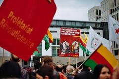 People's Revolution (J4M35_UK) Tags: berlin film 35mm canon turkey eos gate war state massacre platz iraq rally protest communist communism demonstration syria socialist analogue isis brandenburg socialism islamic kurdistan levant kurdish pariser isil 1n