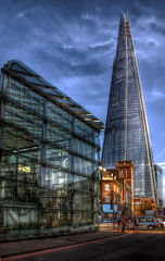 The Shard (Kurseong I) Tags: street city reflection building london tower glass station londonbridge taxi capital rail icon shard glazing