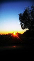 Catching the sun making its way to tomorrow. (peehjaeemaiava) Tags: road trees sunset skyline thestreets sandiego passenger friday clearskies untiltomorrow eastcounty october24th