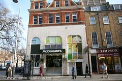 A Clockwork Orange film location: McDonald's, Kings Road (Movie-Locations) Tags: london alex shop chelsea kubrick location clockworkorange record drugstore stanleykubrick malcolmmcdowell kingsroad filmlocation movielocation londonfilmlocation chelseadrugstore