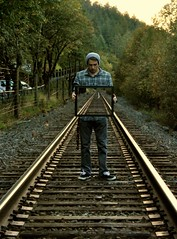 The Journey Has Only Begun (tayler.edwards) Tags: oregon train portland surrealism traintracks surreal frame pdx conceptual