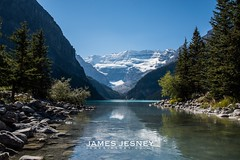 Beautiful day at Lake Louise, Canada (James Jesney) Tags: canada reflection water landscape nationalpark nikon alberta banff lakelouise d610 nikond610