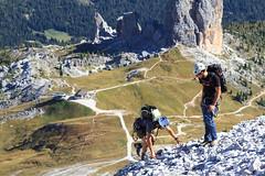 L'Arrivo in Vetta (Roveclimb) Tags: mountain alps alpinismo alpi montagna dolomiti alpinism cadore nuvolau averau mountainering