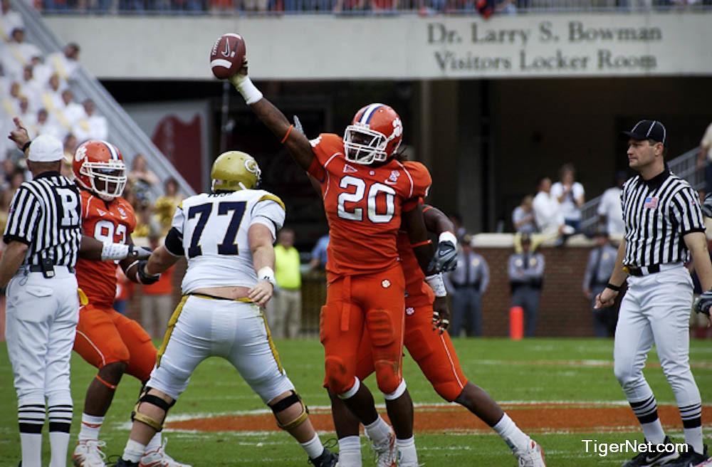 Clemson Photos: 2008, Brandon  Maye, Football, Georgia  Tech