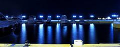 Knights' lights at night (Fnikos) Tags: light night boats lights boat knights