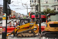 the endlessly bad construction site : castro, san francisco (2014) (he who would be lost) Tags: scott construction san francisco sidewalk castro richard torbakhopper