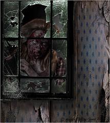 Zombie at the window (angeladj1) Tags: halloween window zombie creepy