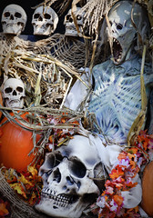 Eerie (Mary Susan Smith) Tags: travel autumn decorations vacation newyork fall tourism halloween scary decor sleepyhollow challengeyouwinner cychallengewinner storybookwinner