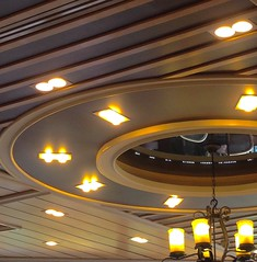 UFO ? - Coffee Shop - Sukhumvit Rd Bangkok (jcbkk1956) Tags: lighting thailand design bangkok interior coffeeshop ufo ceiling