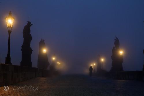Prague - Golem Walking On A Mystical Monday Morning