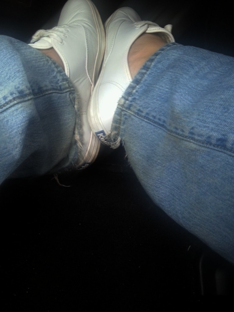 141aa66afe Driving with my leather champs (iwearkeds13) Tags  white leather champion  keds