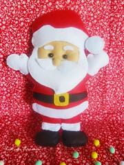 Pai Natal III (AnnCrafts Artesanato) Tags: santa christmas handmade feitomo felt feltro claus painatal handmadedoll feltdoll enfeiteporta