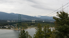 Lion's Gate Bridge from Prospect Point (Joey Hinton) Tags: park bridge canada vancouver gate olympus columbia stanley lions british prospectpoint omd em1 m43 mft microfourthirds 1240mmf28