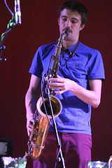 Vula Viel (2014) 04 - George Crowley (KM's Live Music shots) Tags: greatbritain worldmusic saxophone tenorsax southbankcentre georgecrowley fridaytonic metalwoodskinthecolincurriepercussionfestival vulaviel