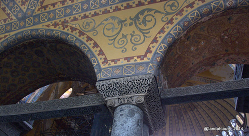 Interior view of the Hagia Sophia