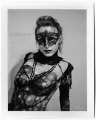 painted beauty (Jürgen Hegner) Tags: blackandwhite analog polaroid mask bodypainting 110a fp3000b polaroidland110a