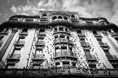 ohla hotel (Markus Moning) Tags: barcelona bw white black building eye architecture facade canon eos hotel eyes mark iii catalonia eyeball architektur 5d sw weiss gebude schwarz span eyeballs neoclassical fassade frederic moning amat ohla 2470 augapfel markusmoning augpfel