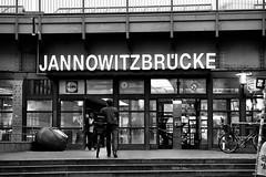 Bahnhof (Strange Artifact) Tags: bw white black berlin nikon sony bahnhof 100mm e series zwart wit weiss schwarz 128 jannowitzbrcke a7r metabones