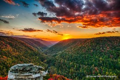 Sunset Lindy Point Blackwater Falls State Park (Thomas DeHoff) Tags: park sunset west point colorful state sony falls blackwater hdr lindy viriginia a700