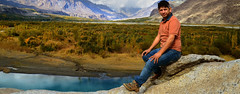 Akalay hain to kiya gham hay (NotMicroButSoft (Fallen in Love with Ghizar, GB)) Tags: autumn pakistan nature water river gilgit ghizar gilgitbaltistan gakoch