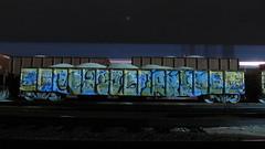Paws Said (Stalkin The Lines) Tags: longexposure nightphotography railroad graffiti exposure railway trains nightshift gondola freighttrains said paws openshutter freights eka lighttrail paintedtrains lightstream benching benchingfreights nightbench afterhourbench