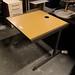Oak study desk metal frame