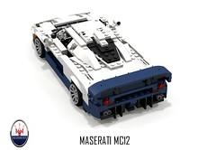 Maserati MC12 (2004) (lego911) Tags: auto birthday italy sports car race model italian lego render ferrari enzo 18 7th coupe challenge mc12 maserati cad sportscar racer lugnuts povray 84 v12 moc berlinetta ldd miniland midengine attheraces lego911 lugnutsturns7…or49indogyears