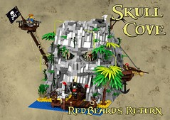 pirate cove front with background (Glen Bricker) Tags: lego pirates ideas glenbricker darthky